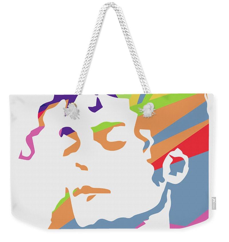 Michael Jackson Weekender Tote Bag featuring the digital art Michael Jackson 3 POP ART by Ahmad Nusyirwan