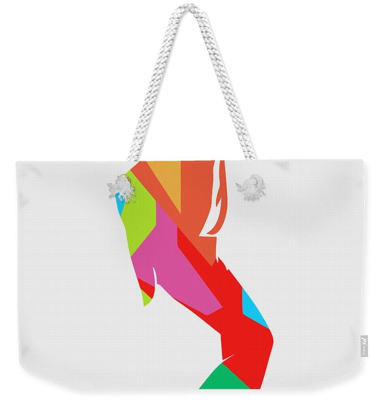 Michael Jackson Weekender Tote Bag featuring the digital art Michael Jackson Dance 2 POP ART by Ahmad Nusyirwan