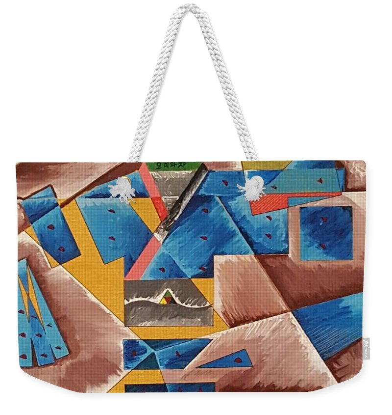 Cubist Painting Weekender Tote Bag featuring the painting Miwako's Yukata by Quintus Curtius
