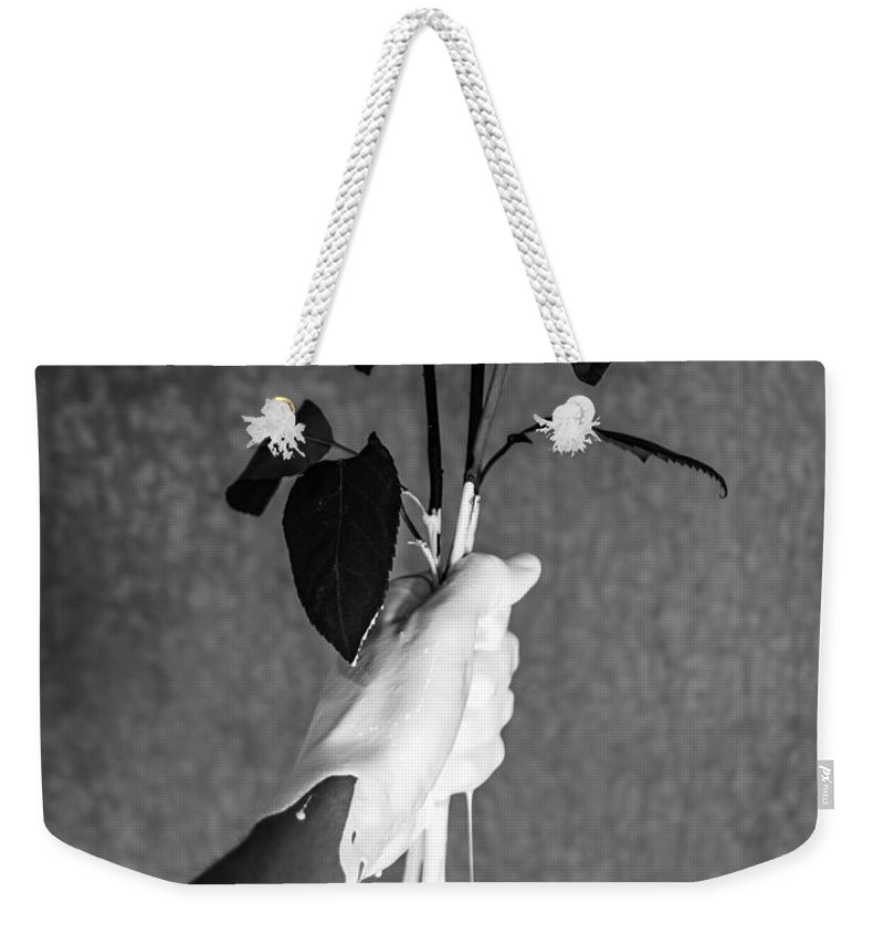 Flowers Weekender Tote Bag featuring the photograph Moment by Brendan North