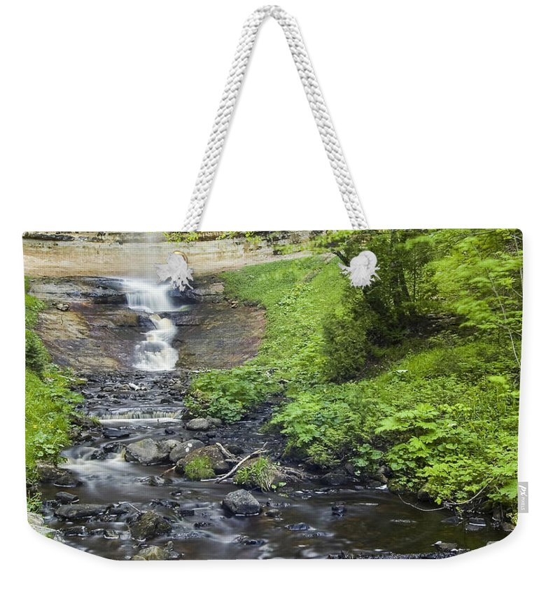 3scape Weekender Tote Bag featuring the photograph Munising Falls by Adam Romanowicz