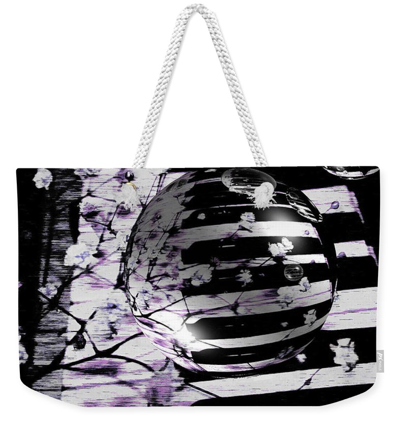 Piano Art Weekender Tote Bag featuring the photograph Music World by Linda Sannuti