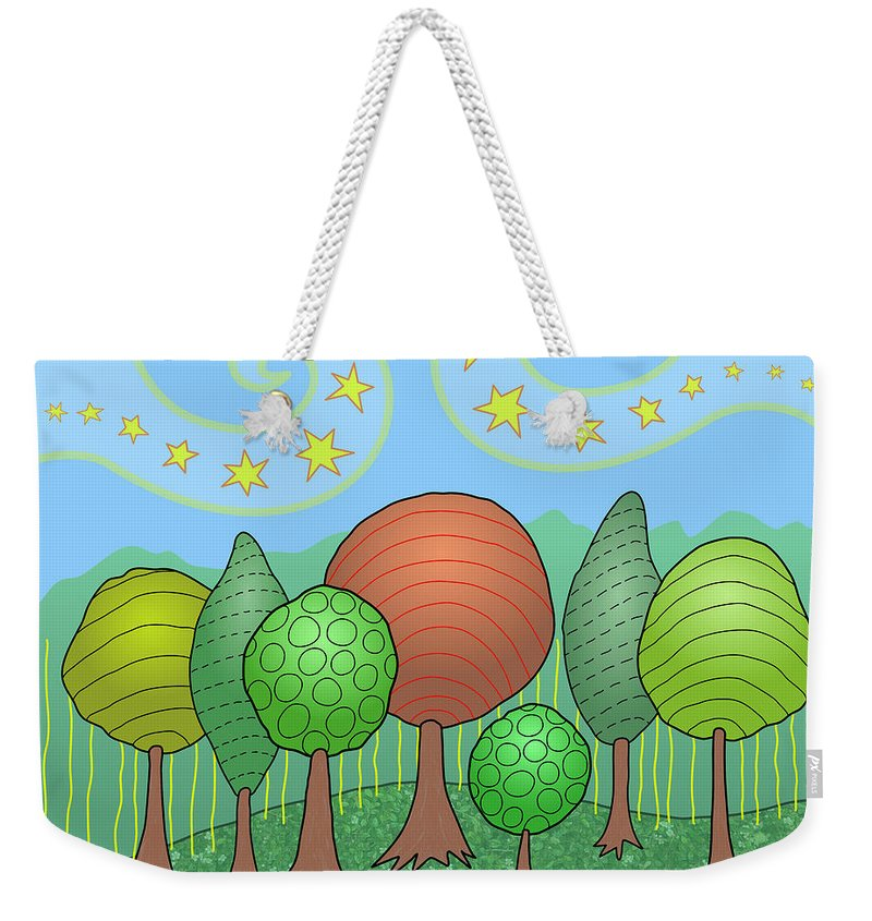 Family Weekender Tote Bag featuring the digital art My Family by Susan Bird Artwork