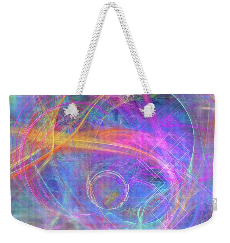 Mystic Beginning Weekender Tote Bag featuring the digital art Mystic Beginning by John Robert Beck