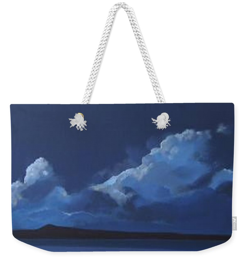 Landscape Weekender Tote Bag featuring the painting Nocturne by Hunter Jay