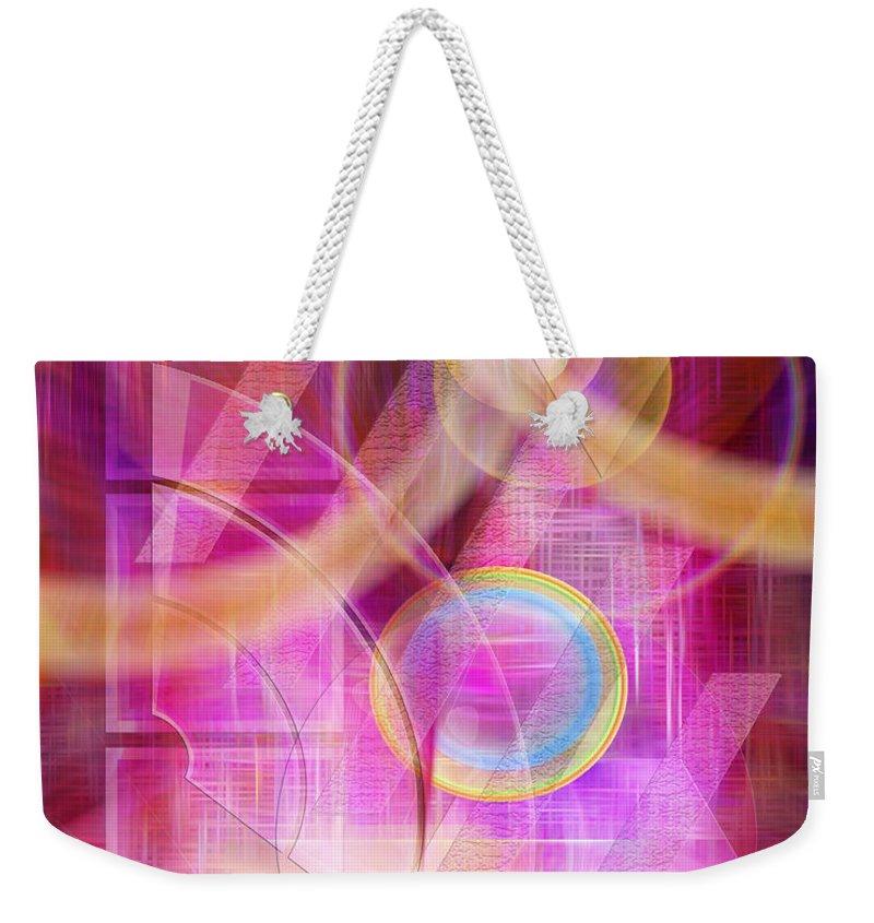 Northern Lights Weekender Tote Bag featuring the digital art Northern Lights by John Robert Beck