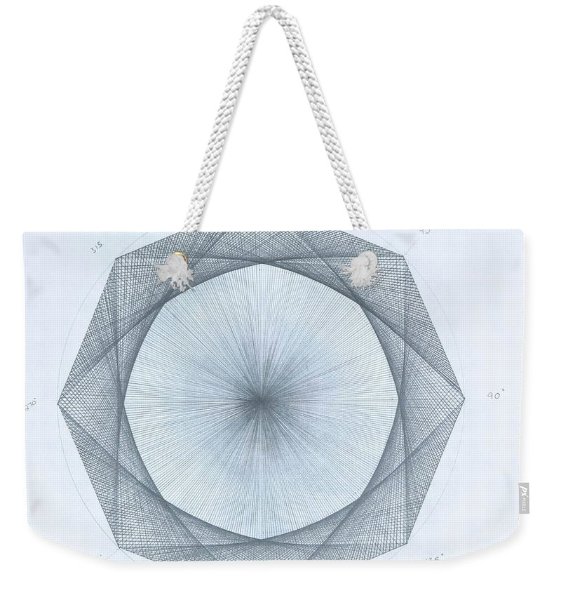 Octagon Weekender Tote Bag featuring the drawing Octagon limits by Jason Padgett