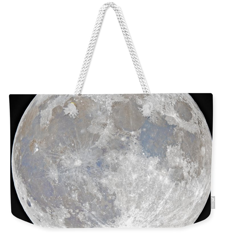 Fullmoon Weekender Tote Bag featuring the photograph October 2020 Halloween Full/Blue Moon by Prabhu Astrophotography