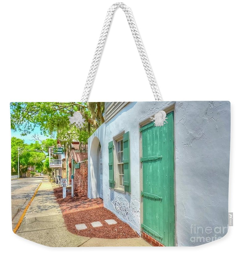 Door Weekender Tote Bag featuring the photograph Oldest House by Debbi Granruth