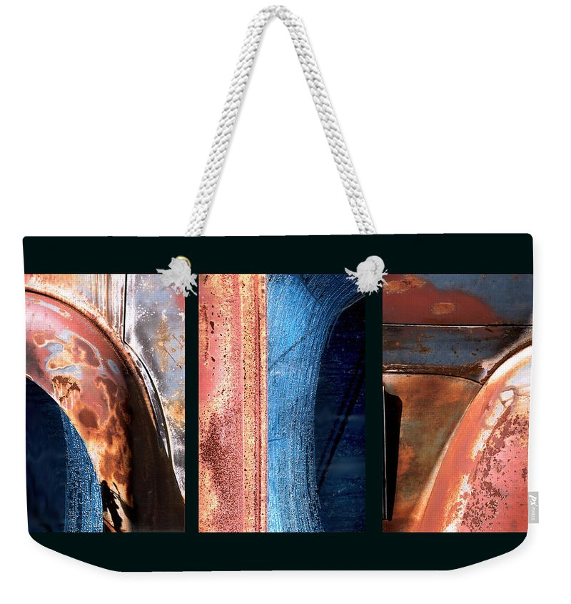 Abstract Weekender Tote Bag featuring the photograph Ole Bill by Steve Karol