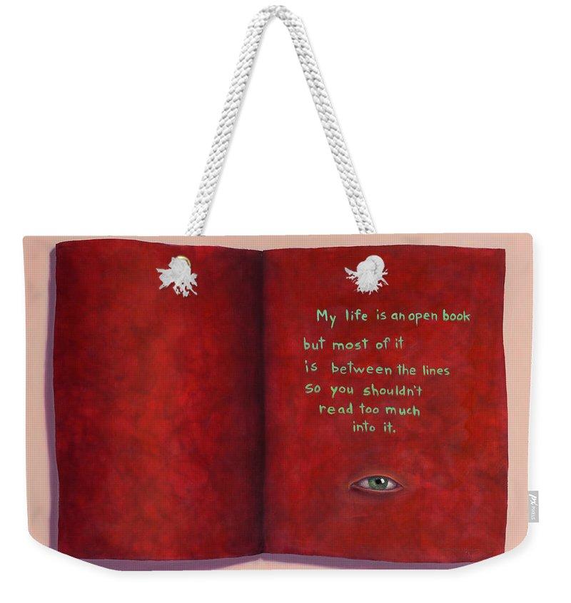 Subjective Weekender Tote Bags