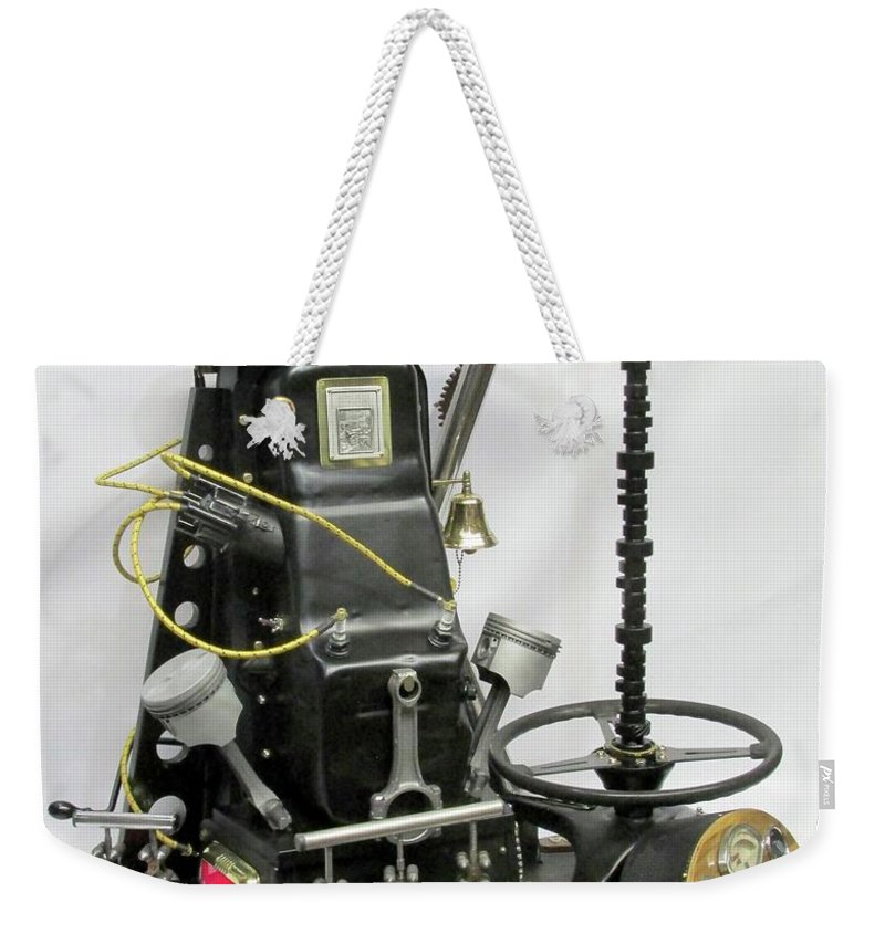 Czappa Weekender Tote Bag featuring the sculpture Opie Magnum by Bill Czappa