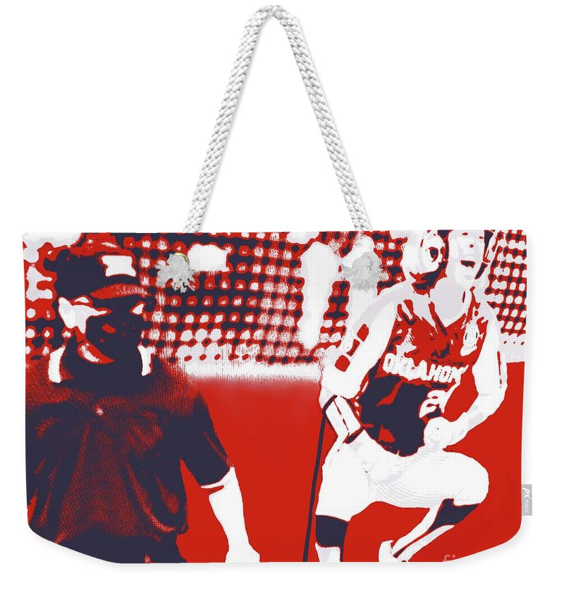 Softball Weekender Tote Bag featuring the painting OU National Champions by Jack Bunds