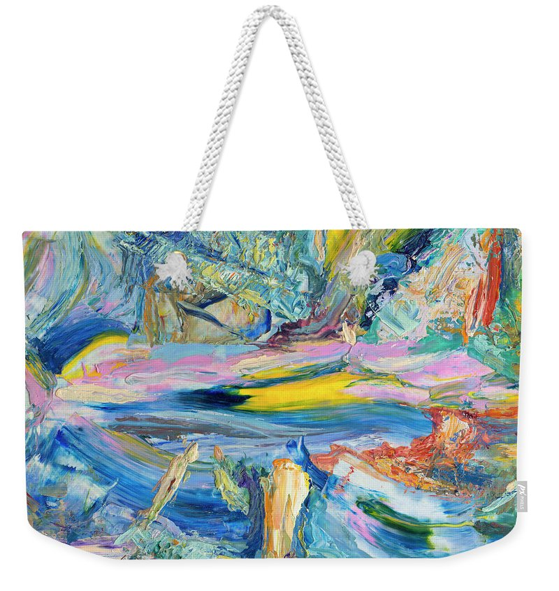 Abstract Weekender Tote Bag featuring the painting Paint number 31 by James W Johnson