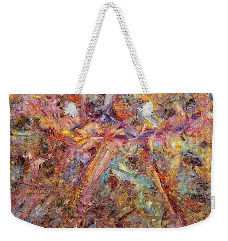 Abstract Weekender Tote Bag featuring the painting Paint number 43 by James W Johnson