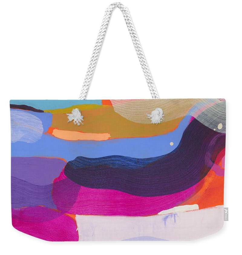 Abstract Weekender Tote Bag featuring the painting Party Boat by Claire Desjardins
