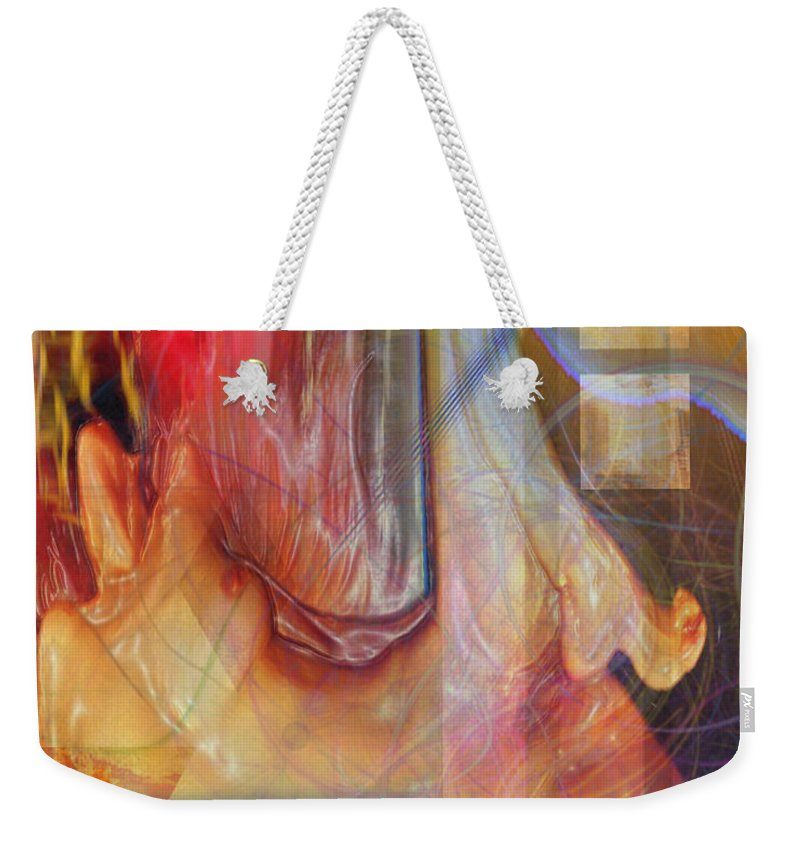 Passion Play Weekender Tote Bag featuring the digital art Passion Play by John Robert Beck