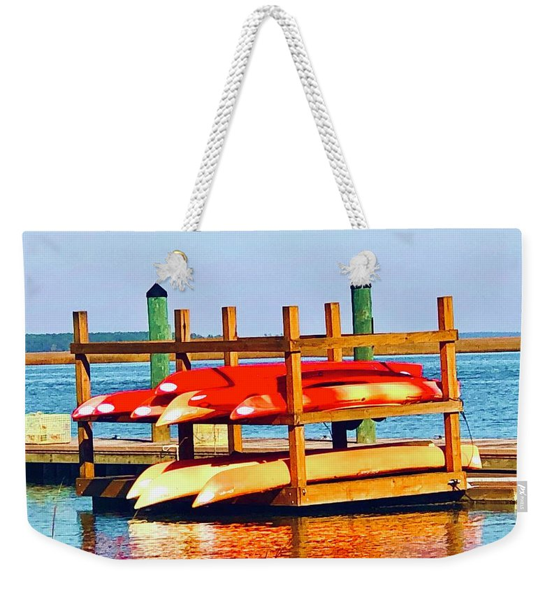 Landscape Weekender Tote Bag featuring the photograph Patiently Waiting by Michael Stothard