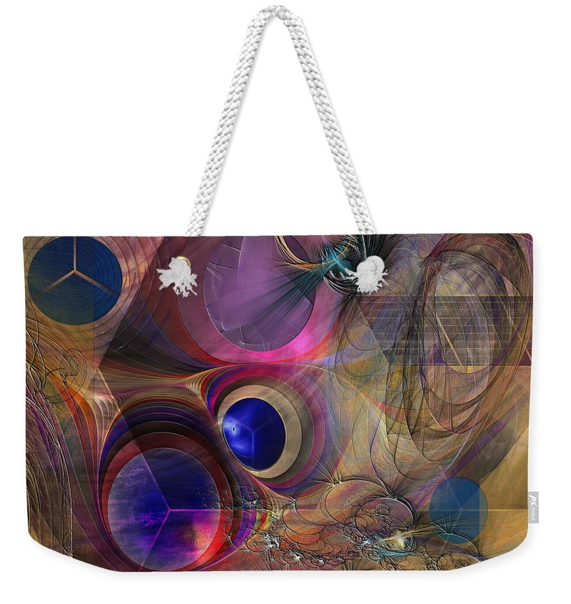 Peace Weekender Tote Bag featuring the digital art Peace Will Come by John Robert Beck