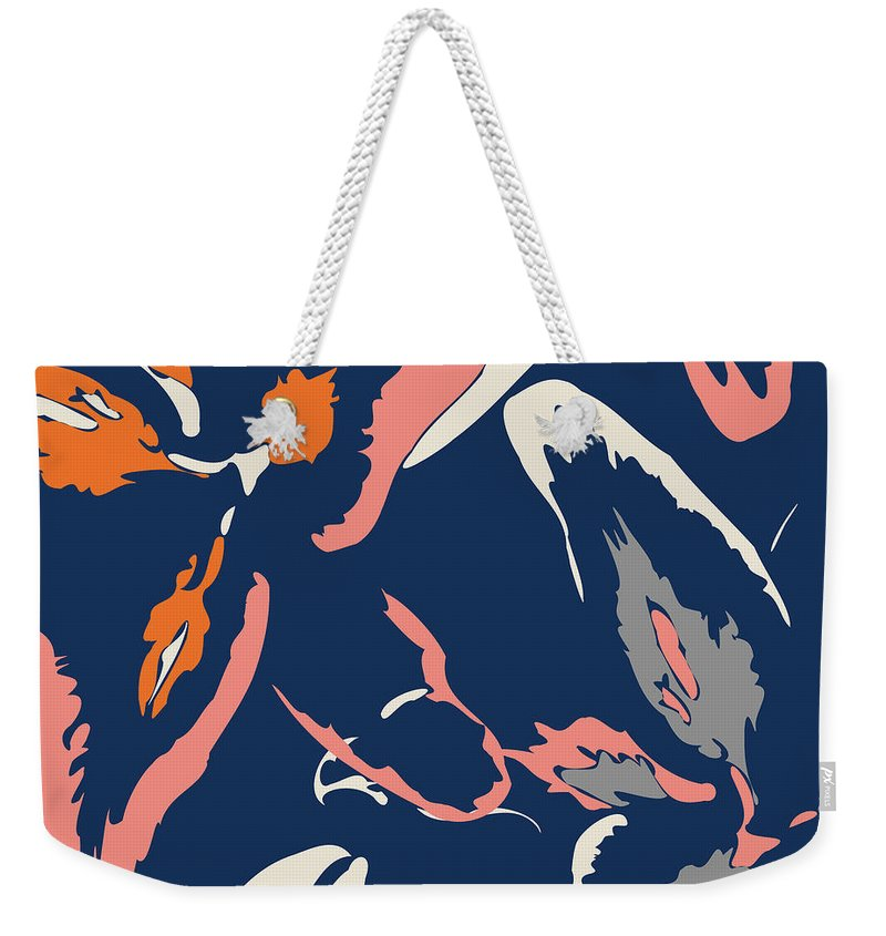 Abstract Weekender Tote Bag featuring the digital art Peaches And Cream by Absentis Designs