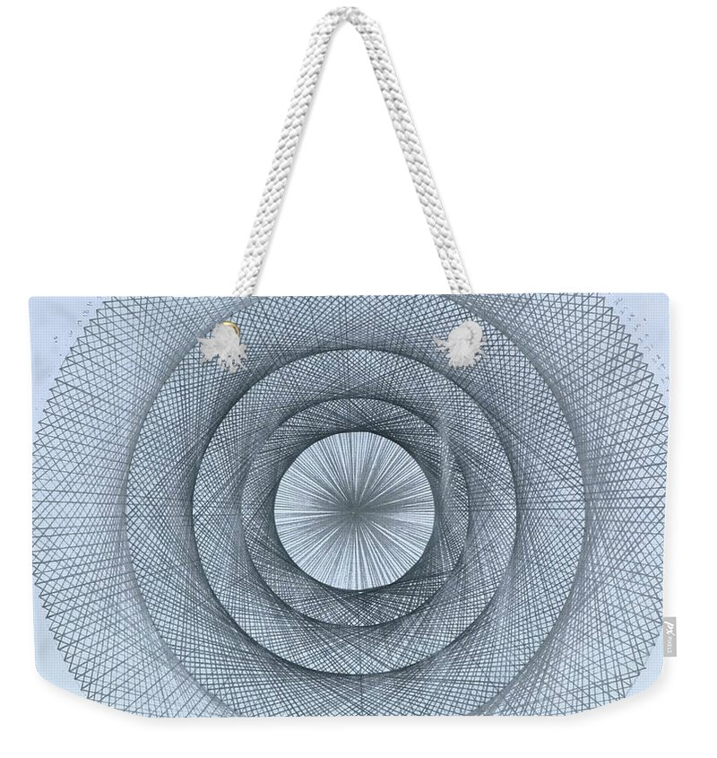 Pi Weekender Tote Bag featuring the drawing Pi within Pi by Jason Padgett