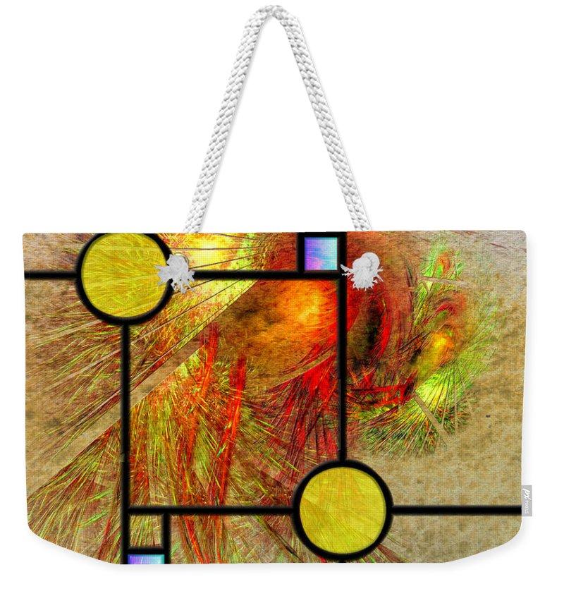 Prairie View Weekender Tote Bag featuring the digital art Prairie View by John Robert Beck