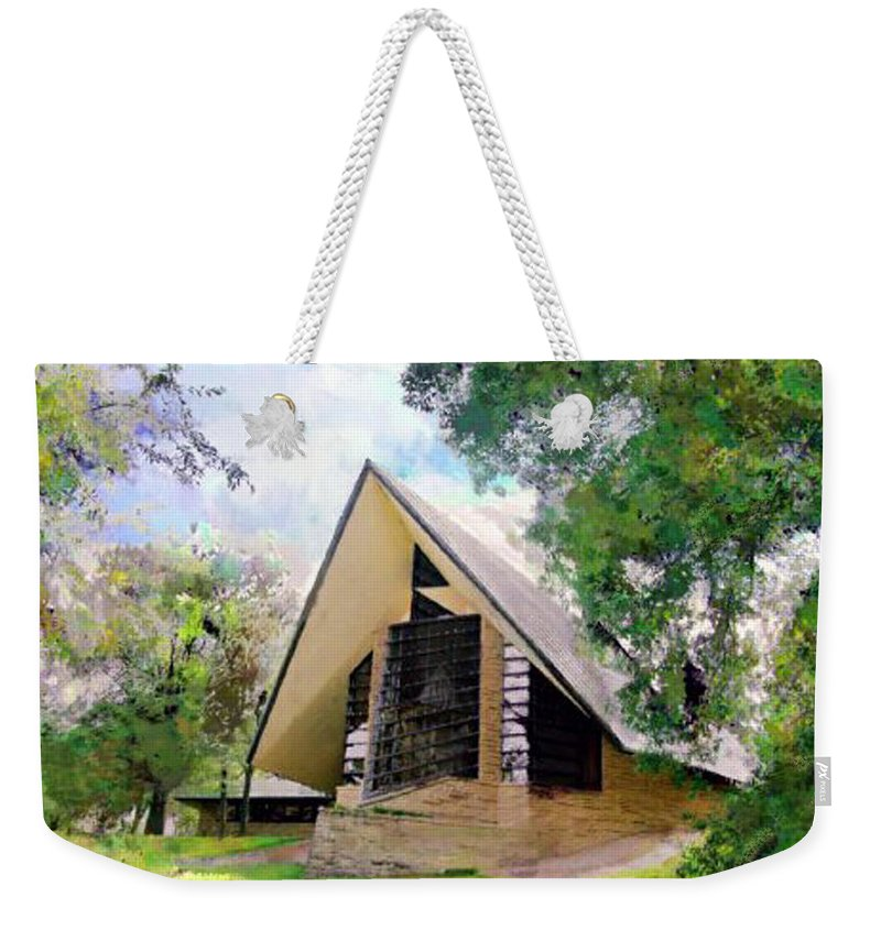 Praying Hands Weekender Tote Bag featuring the digital art Praying Hands by John Robert Beck