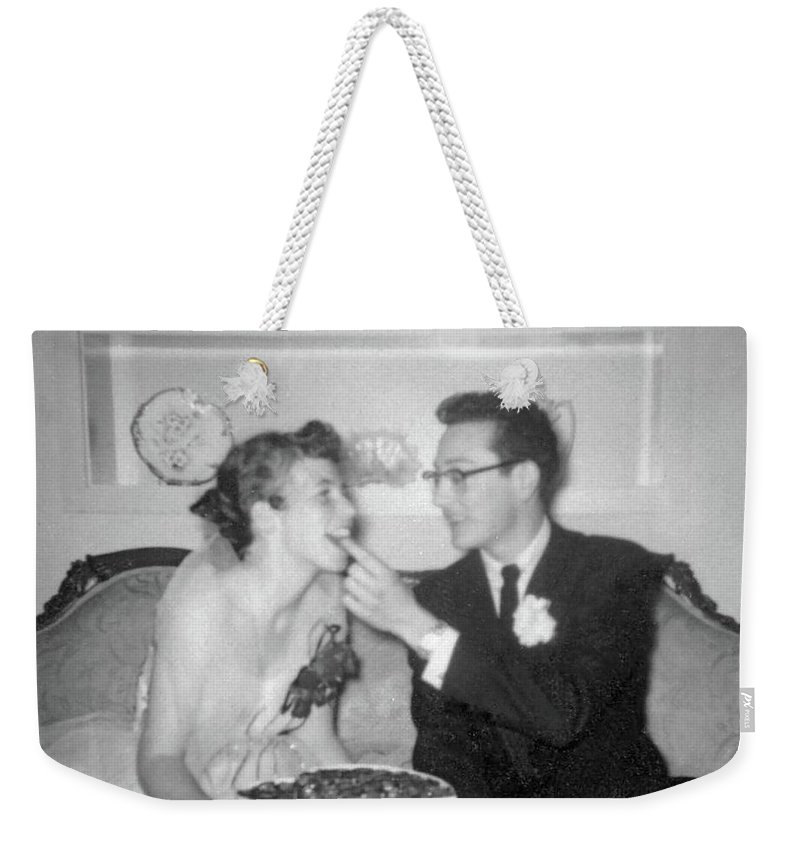 Buddy Holly Weekender Tote Bag featuring the photograph Prom Gifts by John Bates