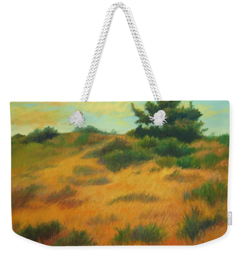 Cape Cod Scene Weekender Tote Bag featuring the painting Province Lands Cape Cod by Phyllis Tarlow