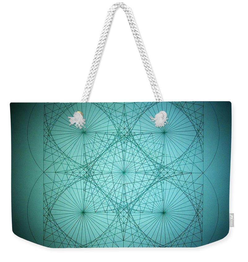 Blackhole Weekender Tote Bag featuring the drawing Quantum Blackhole by Jason Padgett