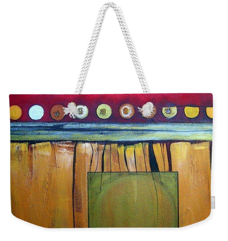 Series Weekender Tote Bag featuring the painting Redheads 3 by Marlene Burns
