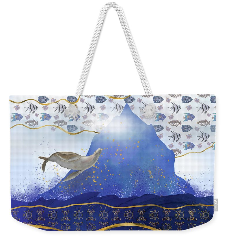Climate Change Weekender Tote Bag featuring the digital art Rising Oceans - Surreal World by Andreea Dumez
