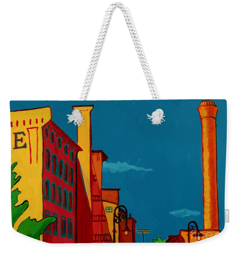 Landscape Weekender Tote Bag featuring the painting Riverwalk by Debra Bretton Robinson
