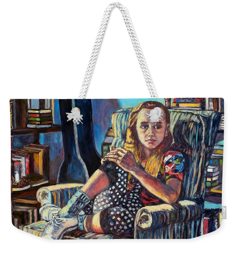 Figure Weekender Tote Bag featuring the painting Samantha by Kendall Kessler