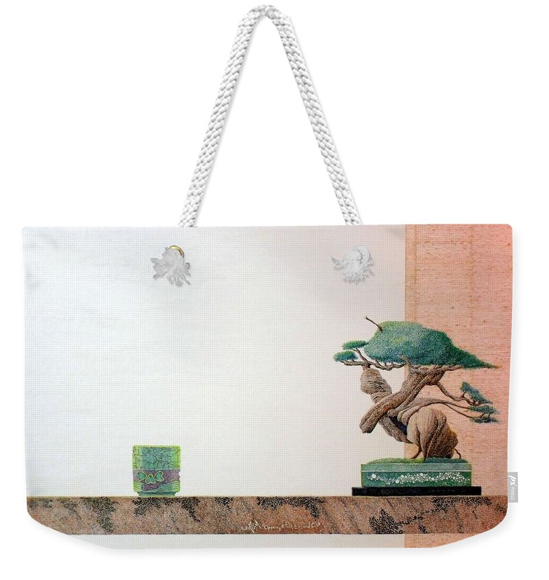 Still Life Weekender Tote Bag featuring the painting Second Cup by A Robert Malcom