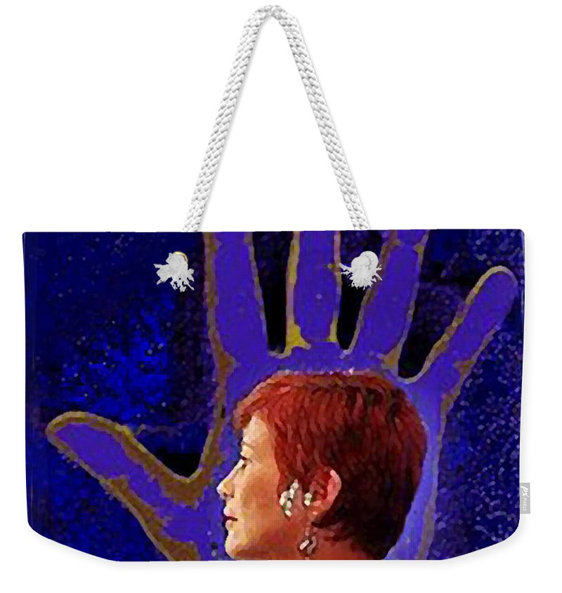 Portrait Weekender Tote Bag featuring the photograph Self Portrait by Madalena Lobao-Tello