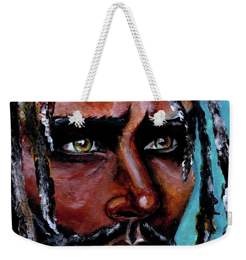 Eyes Weekender Tote Bag featuring the painting Selfless Life by Artist RiA