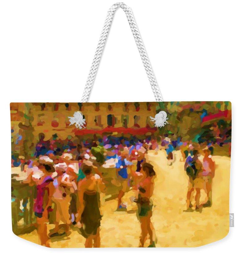 Sienna Weekender Tote Bag featuring the mixed media Sienna by Asbjorn Lonvig