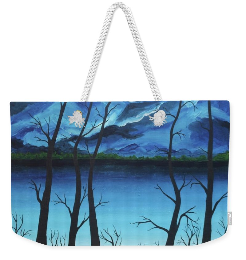 River Weekender Tote Bag featuring the painting Silent Watch by Rollin Kocsis