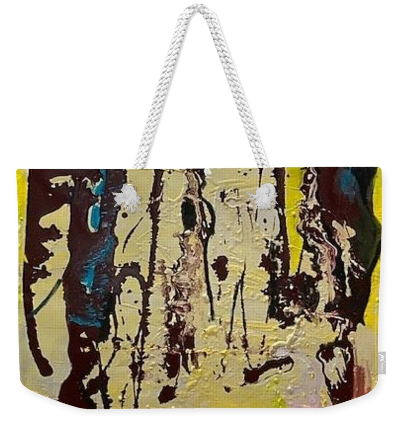 Women Weekender Tote Bag featuring the painting Sisters by Peggy Blood