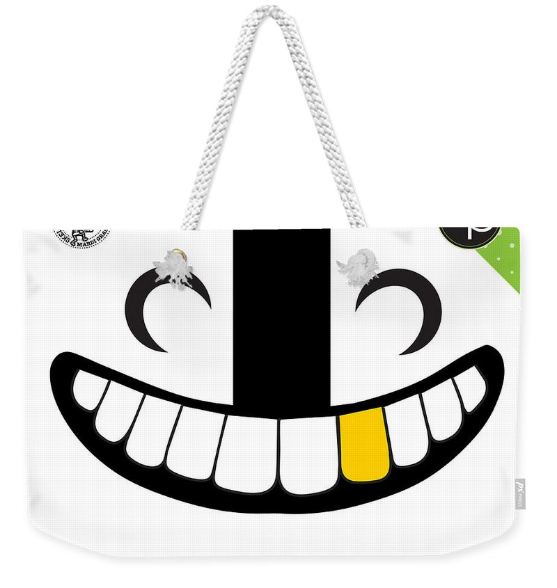 Art Of The Parade Society Weekender Tote Bag featuring the digital art Skeleton Krewe by Art of the Parade Society