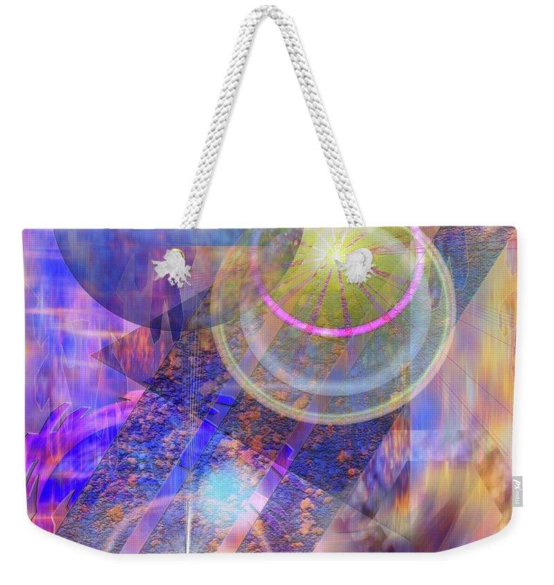Solar Progression Weekender Tote Bag featuring the digital art Solar Progression by John Robert Beck
