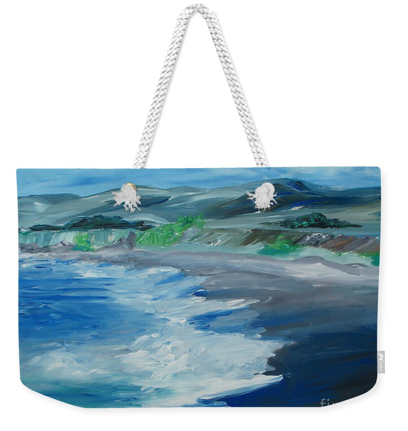Seagull Weekender Tote Bag featuring the painting Sonoma California Coastline by Eric Schiabor
