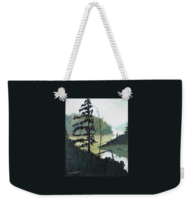 Sudbury Weekender Tote Bag featuring the painting South of Sudbury by Ian MacDonald