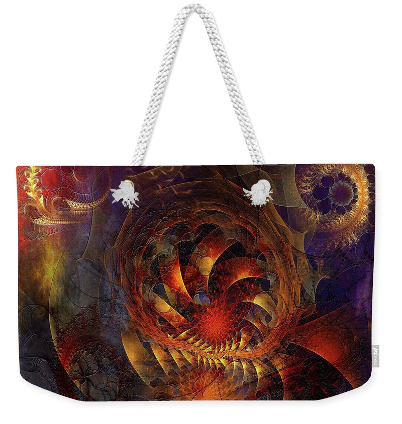 Abstracts Weekender Tote Bag featuring the digital art Spontaneous Extravagance - Square Version by John Robert Beck