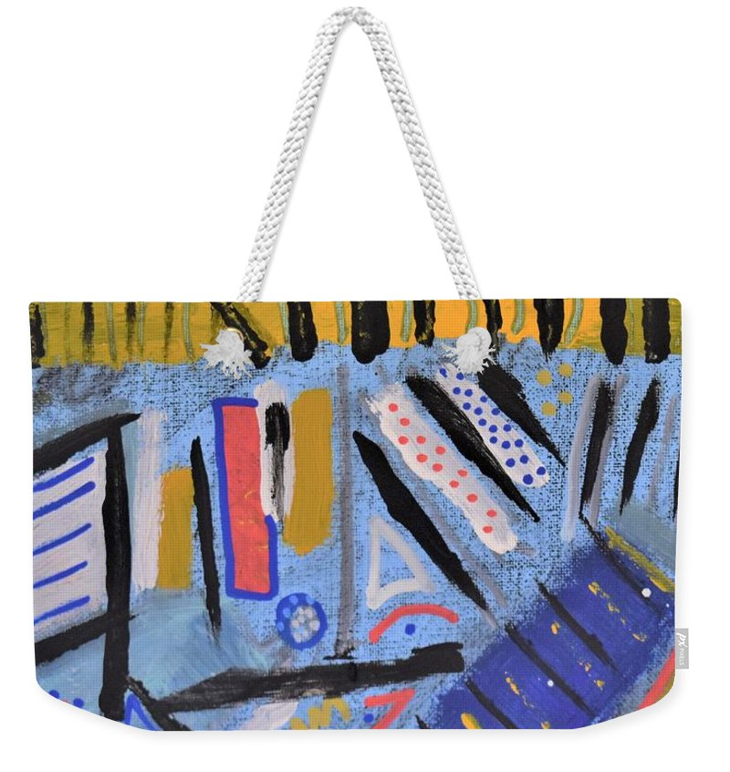 Colorado Weekender Tote Bag featuring the painting Spring in the Rockies by Pam Roth O'Mara