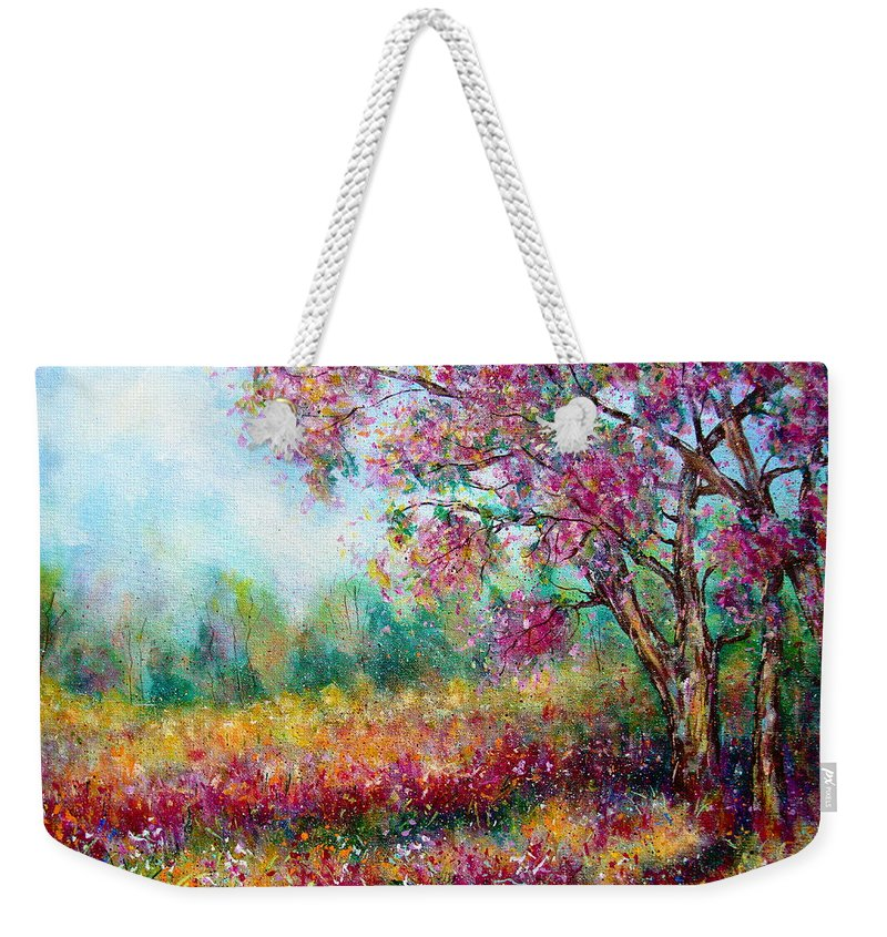 Landscape Weekender Tote Bag featuring the painting Spring by Natalie Holland