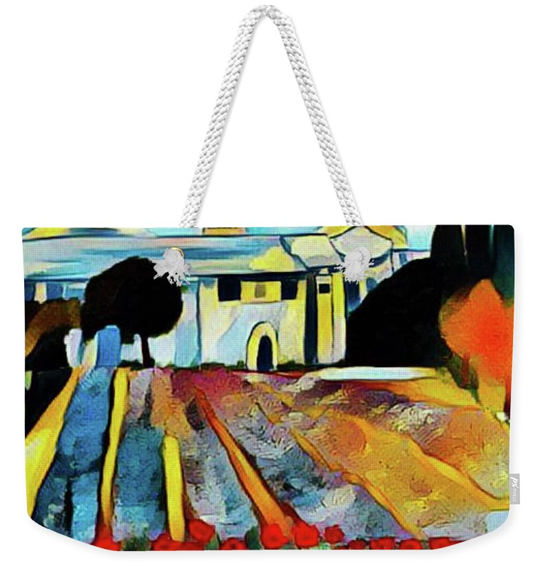 St Remy De Provence Weekender Tote Bag featuring the mixed media St Paul de Mausole at St Remy de Provence by Rusty Gladdish