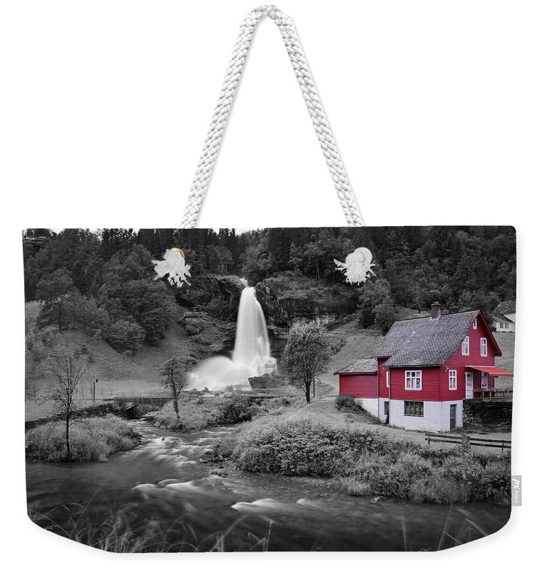 Weekender Tote Bag featuring the photograph Steinsdalsfossen by Pop