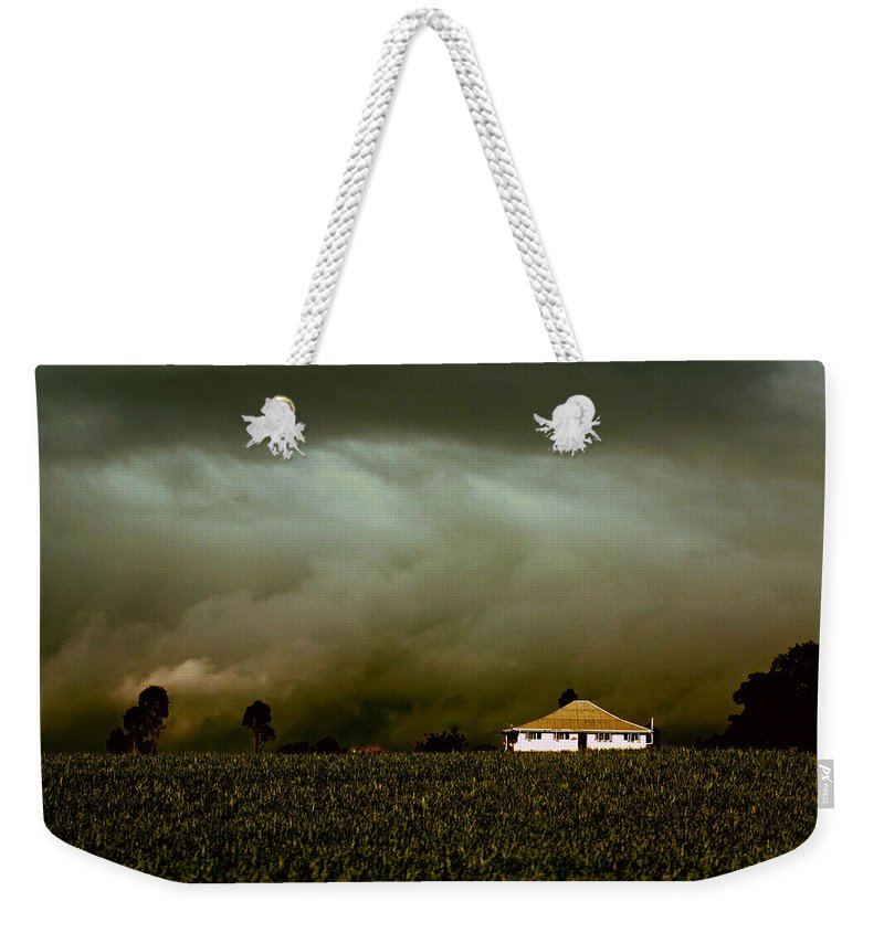Landscape Weekender Tote Bag featuring the photograph Storm on the Rise by Holly Kempe